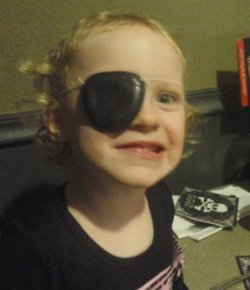 Addy is a pirate and three